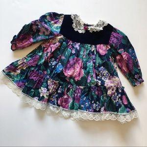Other - Vintage floral toddler girl dress💞